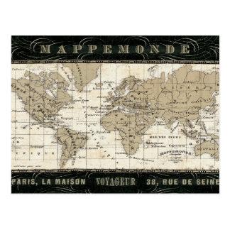 Mappemonde Cartes Postales