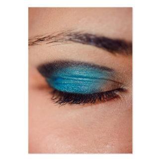 Maquillage bleu cartes de visite professionnelles