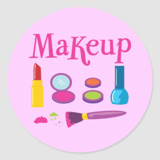 Maquillage coloré sticker rond