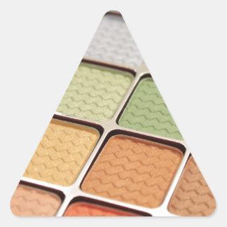 Maquillage de fard à paupières autocollants en triangle