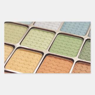 Maquillage de fard à paupières sticker rectangulaire