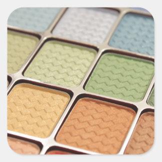 Maquillage de fard à paupières sticker carré