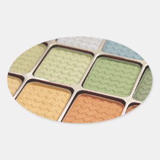 Maquillage de fard à paupières sticker ovale