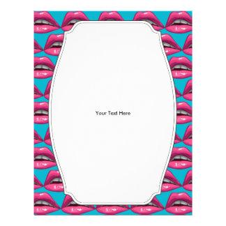 Maquillage de lèvres de rose d'art de bruit prospectus 21,6 cm x 24,94 cm