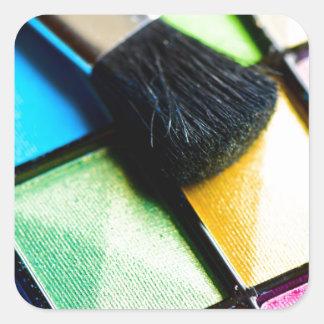 Maquillage d'oeil sticker carré