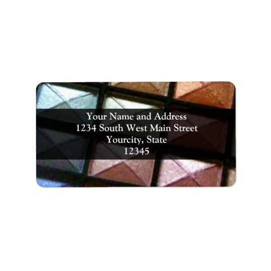 Maquillage géométrique de fard à paupières étiquettes d'adresse