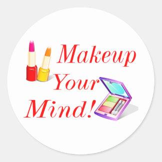 Maquillage votre esprit ! sticker rond