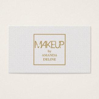 Maquilleur blanc élégant chic moderne d'or de Faux Cartes De Visite