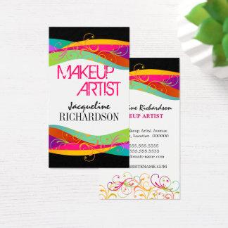 Maquilleur coloré cartes de visite