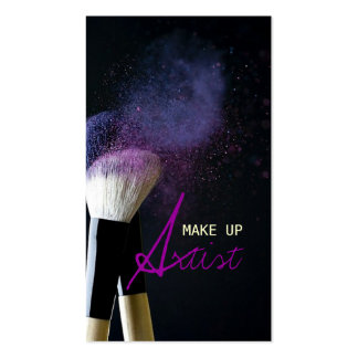 Maquilleur Cosmetologist beauté salon Modèle De Carte De Visite