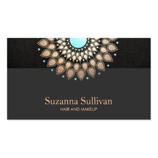 Maquilleur de noir d'or de salon de beauté de cartes de visite professionnelles
