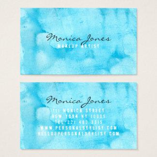 Maquilleur moderne de beauté d'aquarelle de cartes de visite