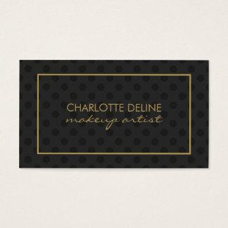 Maquilleur noir gris moderne d'or de motif de cartes de visite