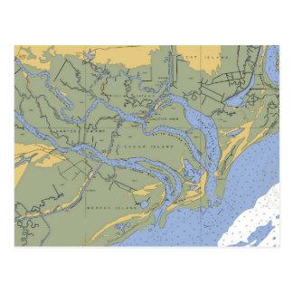 Marais de Santee, carte postale nautique de