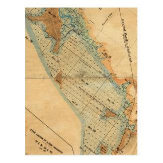 Marais de sel et carte de terres de marée