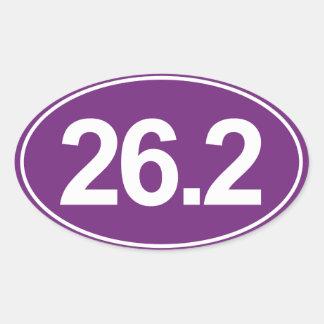 Marathon 26,2 milles d'autocollant ovale (pourpre) sticker ovale