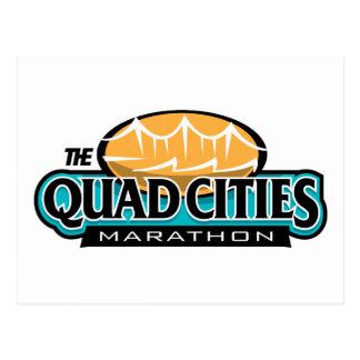 Marathon de villes de quadruple carte postale