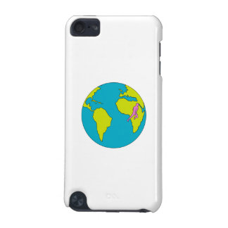 Marathonien courant l'Amérique du Sud Afrique Coque iPod Touch 5G