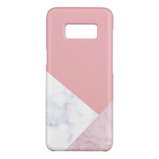 marbre blanc de rose en pastel de poussin élégant coque Case-Mate samsung galaxy s8
