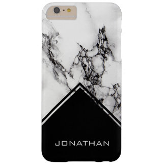 Marbre blanc et triangle noire coque barely there iPhone 6 plus
