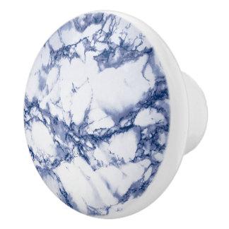 Marbre bleu-foncé profond bouton de porte en céramique