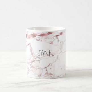 MARBRE de BLANC de PixDezines+VEINES ROSES D'OR DE Mug