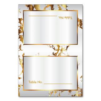 Marbre d'or et satin blanc - cartes de Tableau