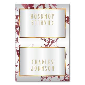 Marbre d'or, or et blanc roses - placez les cartes