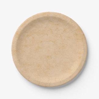 Marbre en pastel de Brown Assiettes En Papier