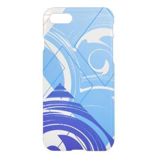 Marbre géométrique bleu élégant coque iPhone 7