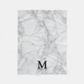 Marbre gris blanc de monogramme