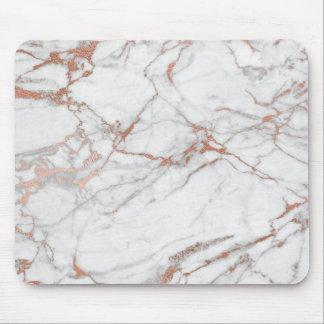 Marbre gris blanc d'or de poudre d'or de rose de tapis de souris