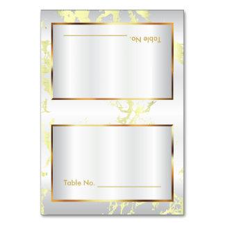 Marbre jaune pâle, or et cartes blanches de