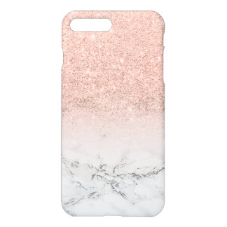 Marbre moderne de blanc d'ombre de scintillement coque iPhone 7 plus