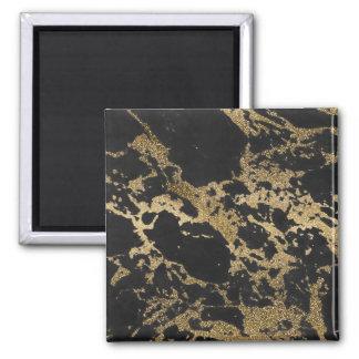 Marbre moderne impressionnant de noir de magnet carré