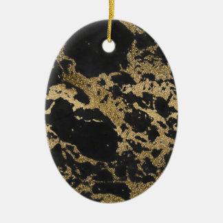 Marbre moderne impressionnant de noir de ornement ovale en céramique