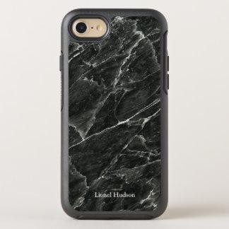Marbre noir personnalisé coque otterbox symmetry pour iPhone 7