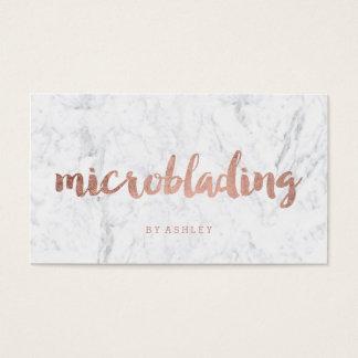 Marbre rose moderne de typographie d'or de cartes de visite