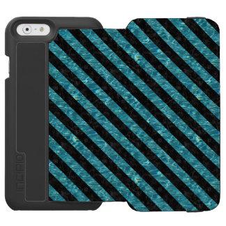 MARBRE STRIPES3 NOIR ET L'EAU BLEU-VERT (R) COQUE-PORTEFEUILLE iPhone 6 INCIPIO WATSON™