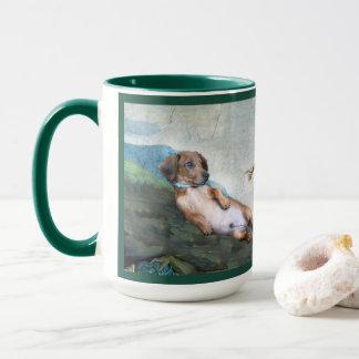 Marcello la création du chien tasse d'art de 15