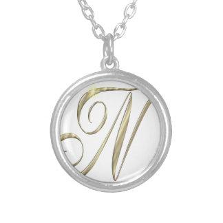 Marchandises d'initiales de Ni de monogramme d'or Pendentif Rond