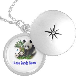 Marchandises d'ours panda médaillon avec fermoir