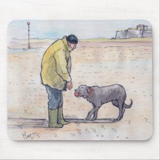 Marchant le chien - 08 tapis de souris