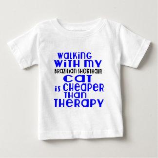 Marche avec mes conceptions de chat de Shorthair T-shirt Pour Bébé