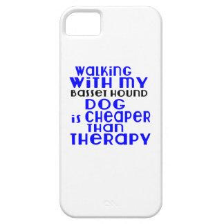Marche avec mes conceptions de chien de Basset Coque iPhone 5