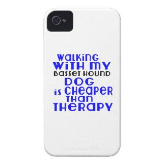 Marche avec mes conceptions de chien de Basset Coques iPhone 4 Case-Mate