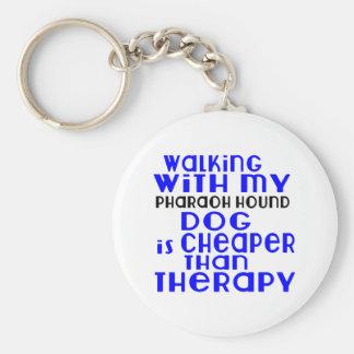 Marche avec mes conceptions de chien de chasse de porte-clé rond