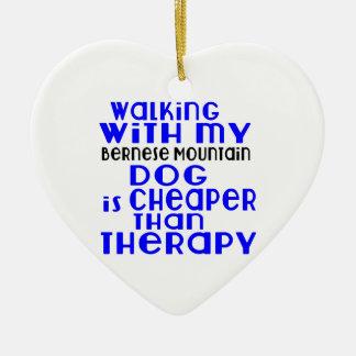 Marche avec mes conceptions de chien de chien de ornement cœur en céramique
