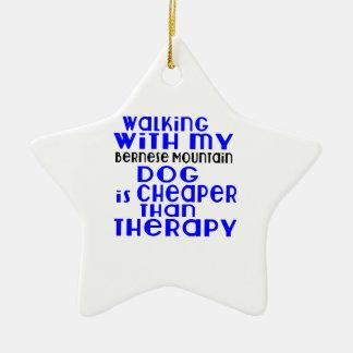 Marche avec mes conceptions de chien de chien de ornement étoile en céramique