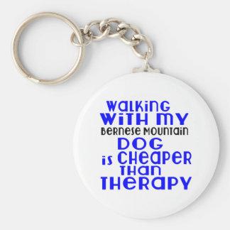 Marche avec mes conceptions de chien de chien de porte-clé rond